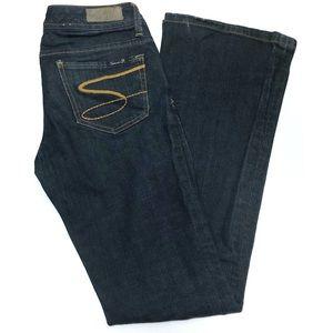 Seven7 Jeans Flare Leg Dark Wash Size 26
